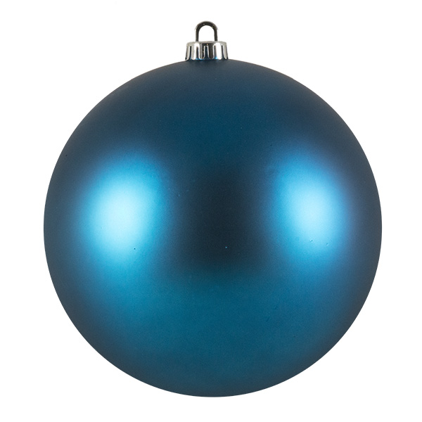 Luxury Aqua Turquoise Satin Finish Shatterproof Baubles - Single 200mm