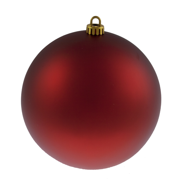 Luxury Red Satin Finish Shatterproof Baubles - Single 200mm