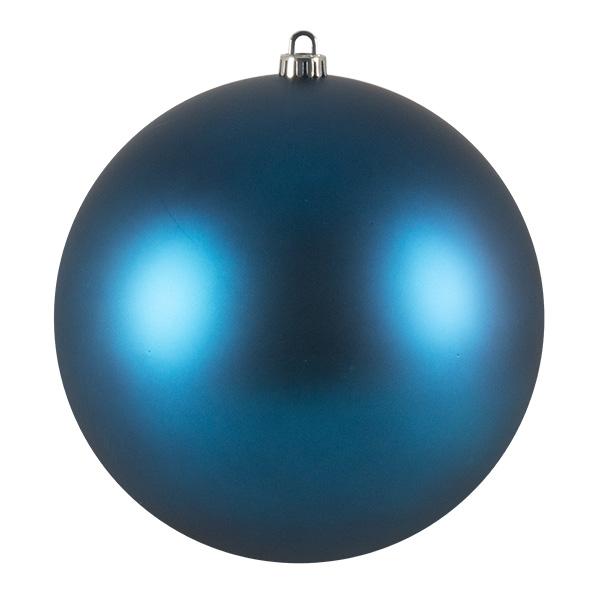 Luxury Aqua Turquoise Satin Finish Shatterproof Baubles - Single 250mm