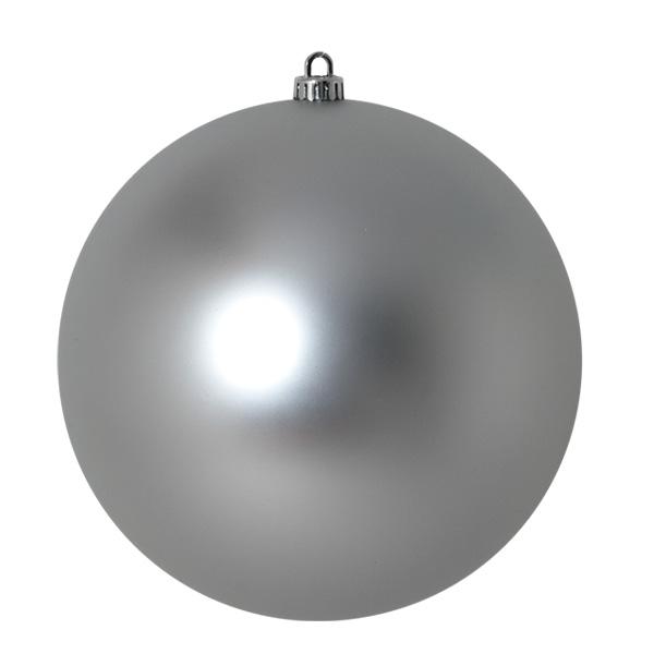 Luxury Silver Satin Finish Shatterproof Baubles - Single 250mm