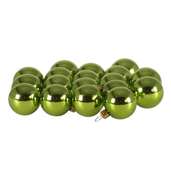 Luxury Lime Green Shiny Finish Shatterproof Bauble Range - Pack of 18 x 40mm