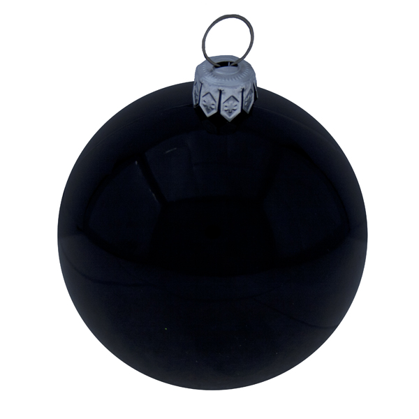 Luxury Black Shiny Finish Shatterproof Bauble Range - Pack of 18 x 60mm
