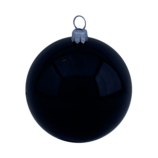 Luxury Black Shiny Finish Shatterproof Bauble Range - Pack of 6 x 80mm