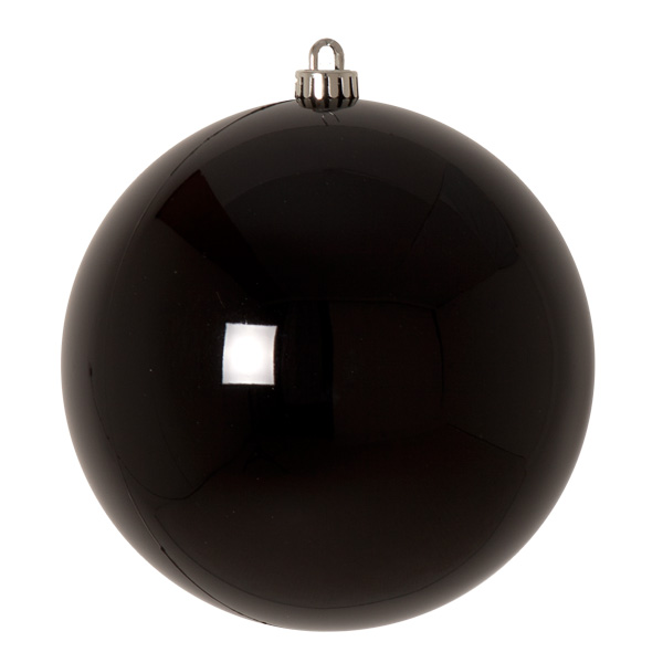 Luxury Black Shiny Finish Shatterproof Bauble Range - Single 200mm