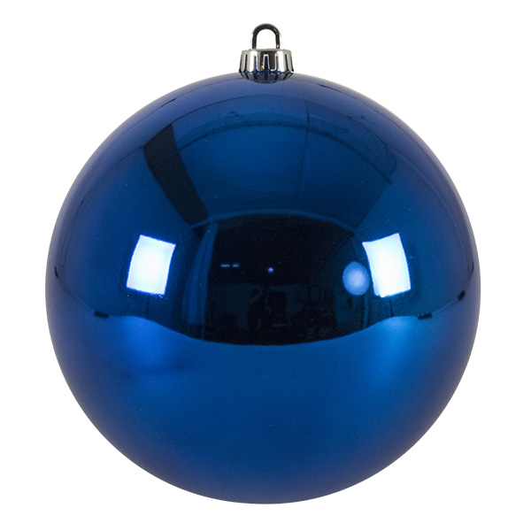 Luxury Electric Blue Shiny Finish Shatterproof Bauble Range - Single 200mm