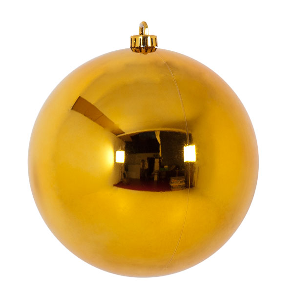Luxury Gold Shiny Finish Shatterproof Bauble Range - Single 200mm