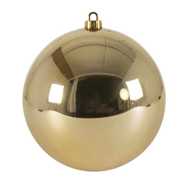 Luxury Pale Gold Shiny Finish Shatterproof Bauble Range - Single 200mm