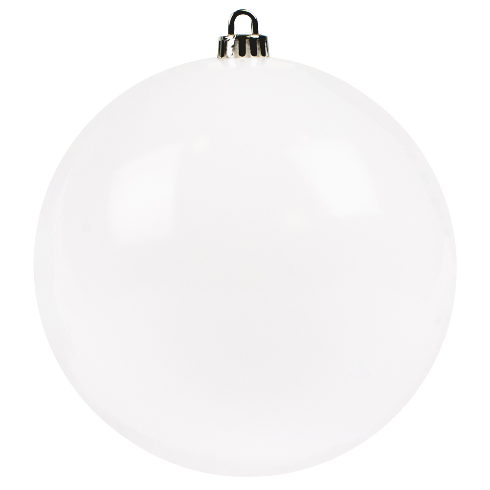 Luxury White Shiny Finish Shatterproof Bauble Range - Single 200mm