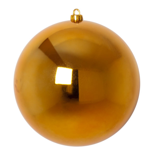 Luxury Gold Shiny Finish Shatterproof Bauble Range - Single 250mm
