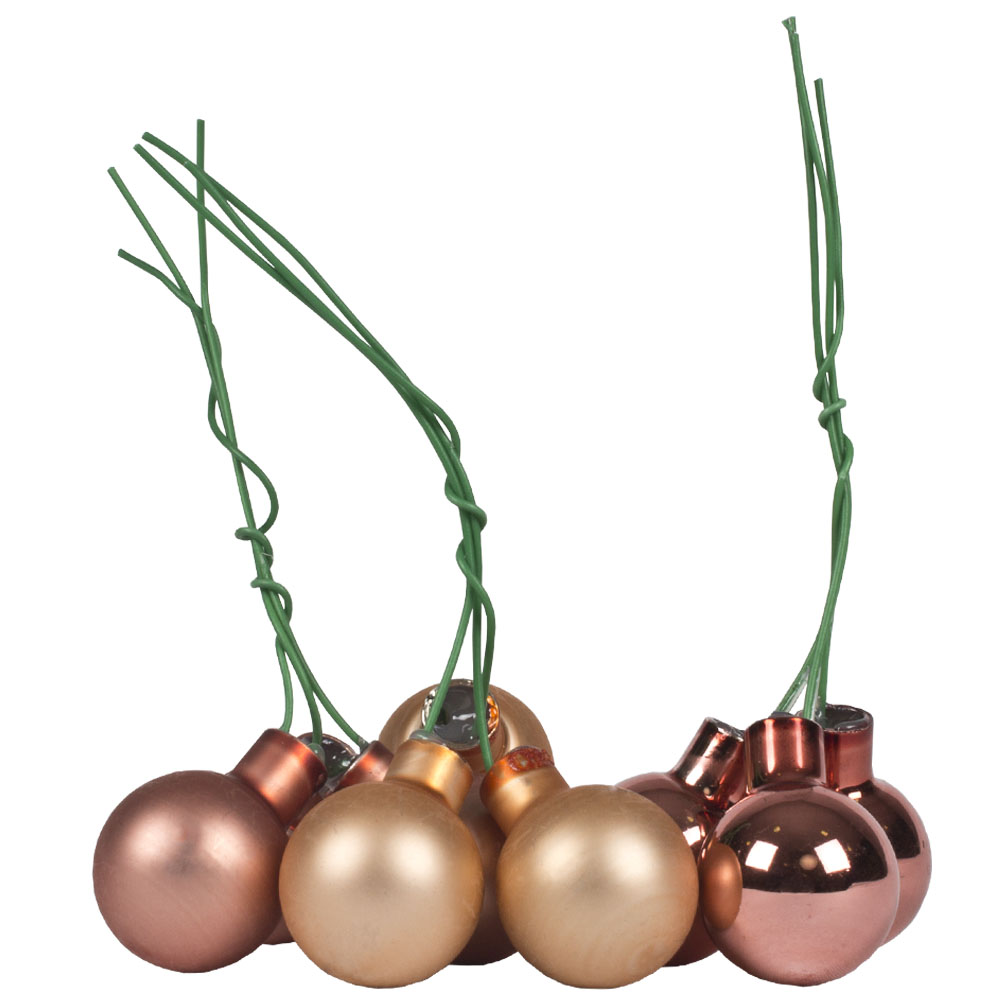 Sandstone Matt & Shiny Glass Baubles - 144 x 20mm