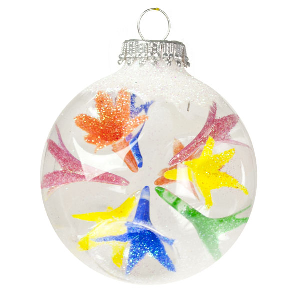 Krebs Reflector Glass Baubles - Pack Of 4