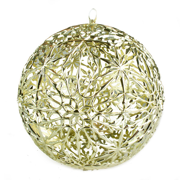 Decorative Gold Filigree Ball - 200mm