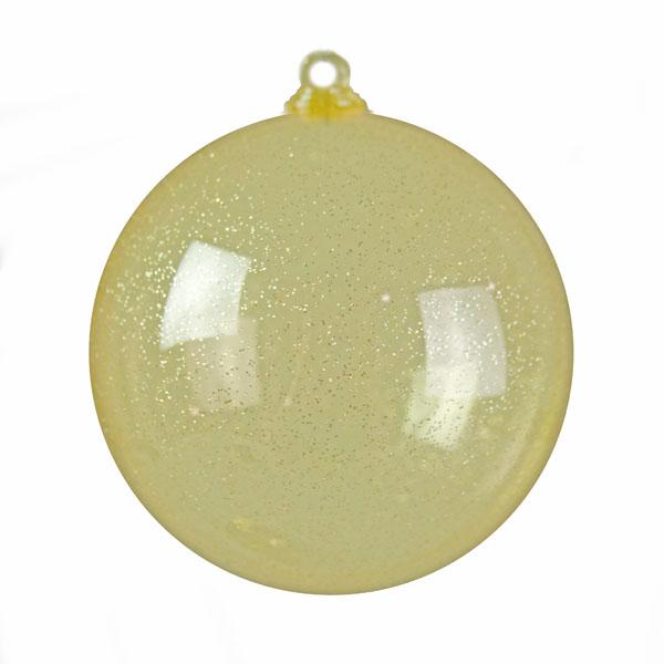 Gold Splittable Glitter Effect Bauble - 60mm