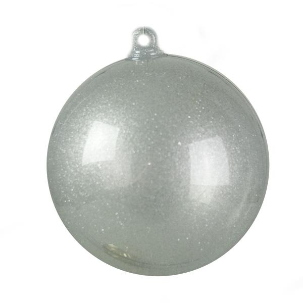 Silver Splittable Glitter Effect Bauble - 100mm