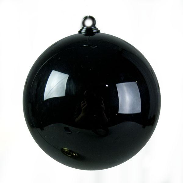Black Opaque Splittable Bauble - 60mm