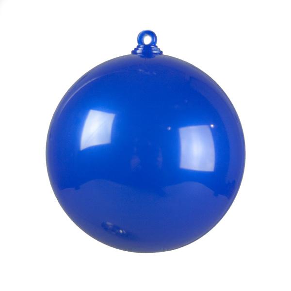 Sapphire Blue Opaque Splittable Bauble - 60mm