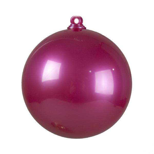 Peony Pink Opaque Splittable Bauble - 60mm