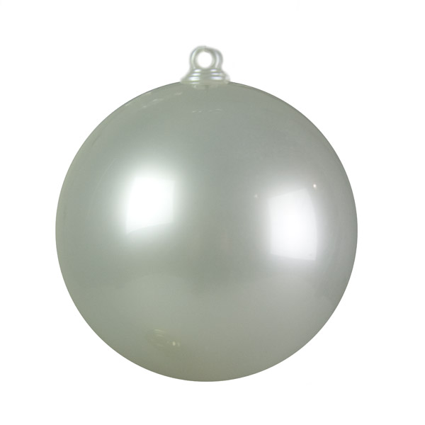 Pearl White Opaque Splittable Bauble - 60mm