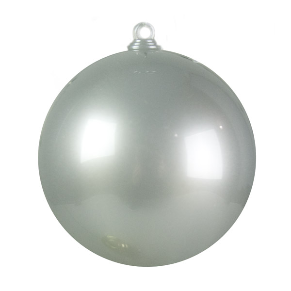 Silver Opaque Splittable Bauble - 60mm