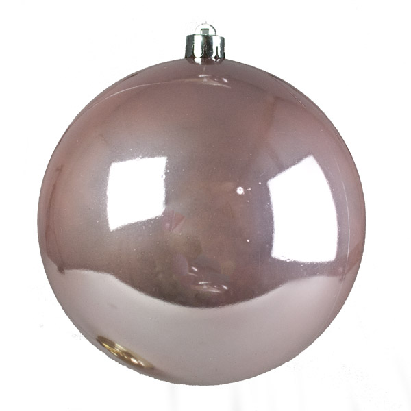 Blush Pink Fashion Trend Shatterproof Baubles - Single 140mm
