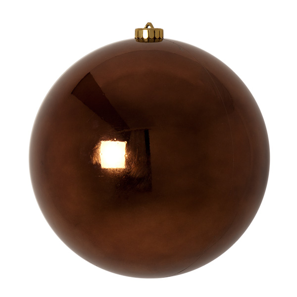 Truffle Brown Fashion Trend Shatterproof Baubles - Single 200mm