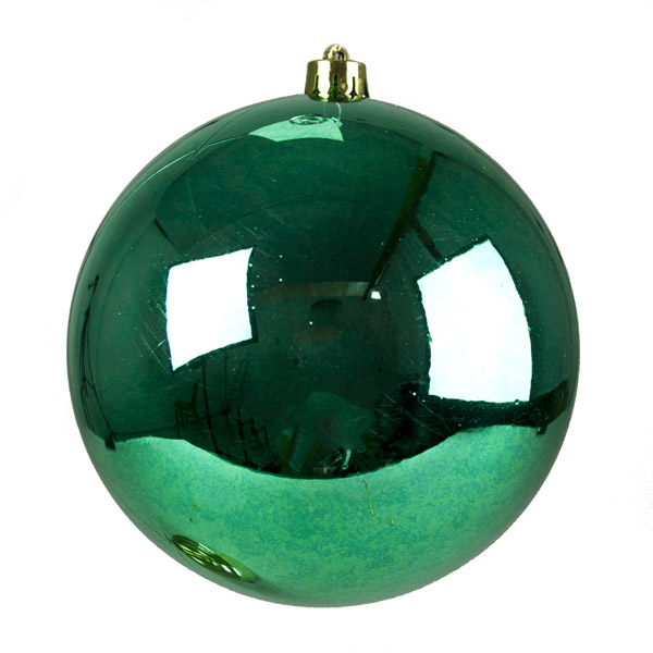Emerald Green Fashion Trend Shatterproof Baubles - Single 140mm