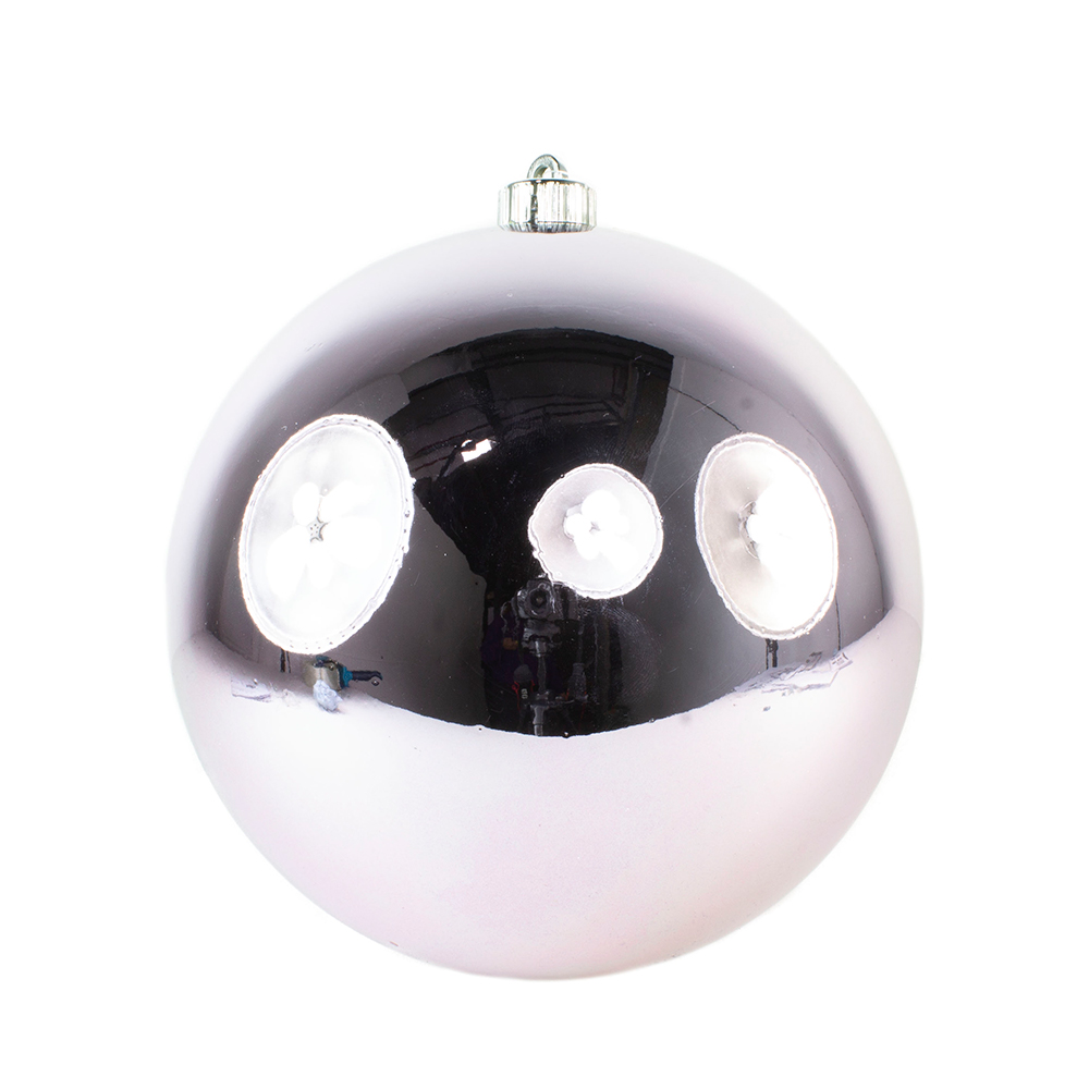 Frosted Lilac Fashion Trend Shatterproof Baubles - Single 140mm