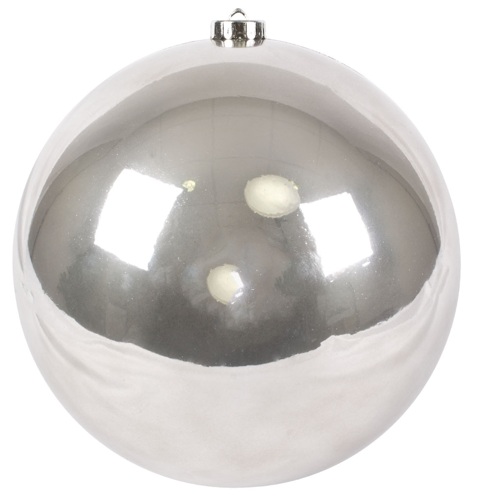 Dove Grey Fashion Trend Shatterproof Baubles - Single 200mm