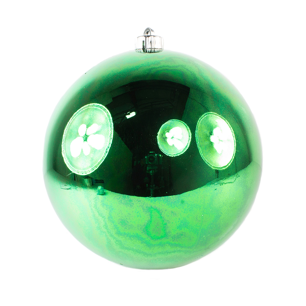 Holly Green Fashion Trend Shatterproof Baubles - Single 200mm