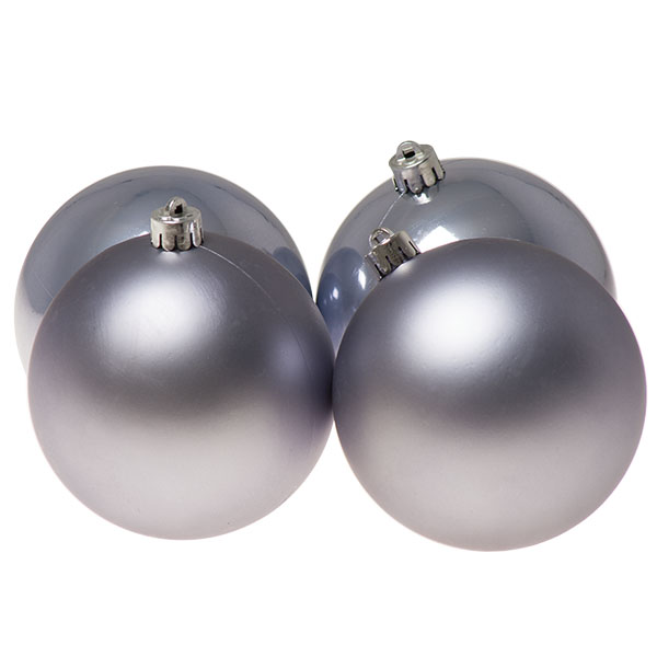Hazy Lilac Fashion Trend Shatterproof Baubles - Pack Of 4 x 100mm
