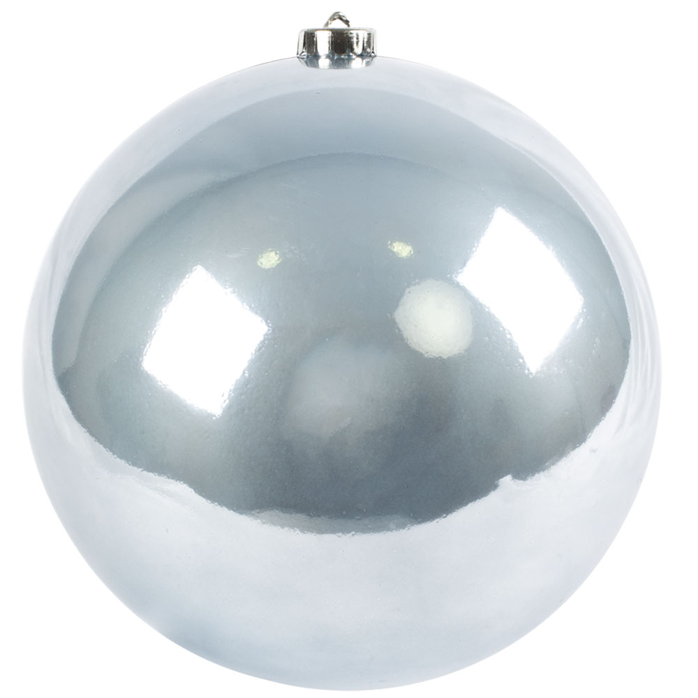 Ice Blue Fashion Trend Shatterproof Baubles - Single 200mm