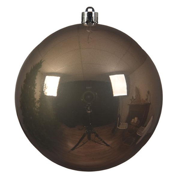 Pale Brown Fashion Trend Shatterproof Baubles - Single 140mm