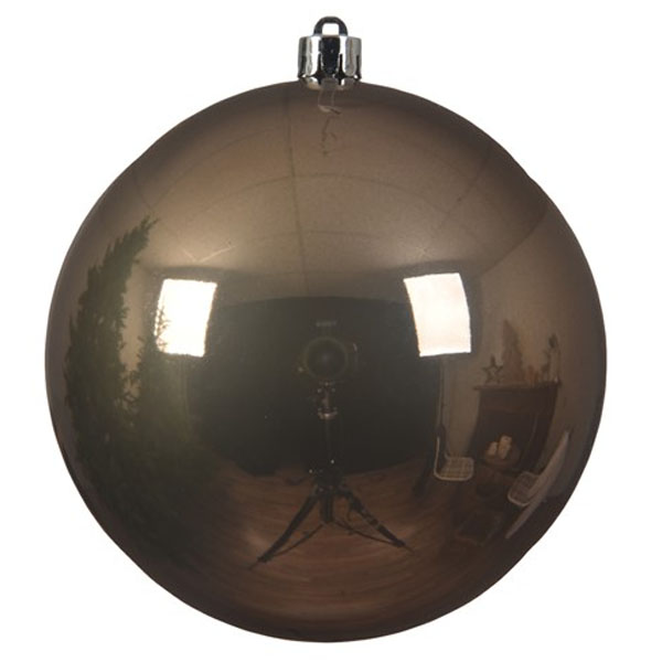 Pale Brown Fashion Trend Shatterproof Baubles - Single 200mm