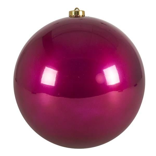 Raspberry Pink Fashion Trend Shatterproof Baubles - Single 200mm