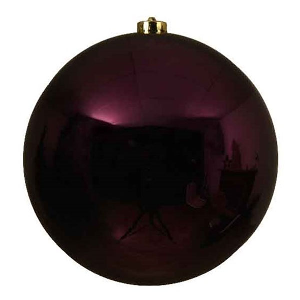 Royal Purple Fashion Trend Shatterproof Baubles - Single 200mm