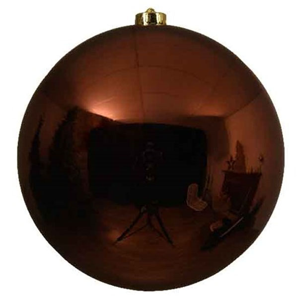 Rosewood Brown Fashion Trend Shatterproof Baubles - Single 200mm