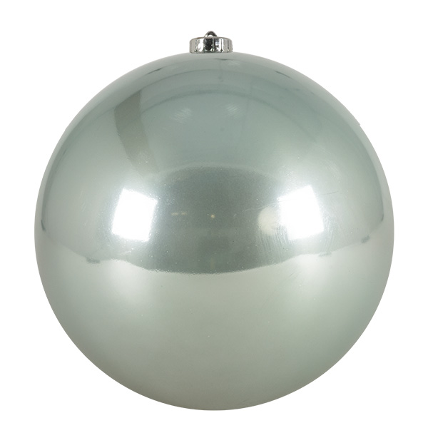 Pale Sage Green Fashion Trend Shatterproof Baubles - Single 200mm