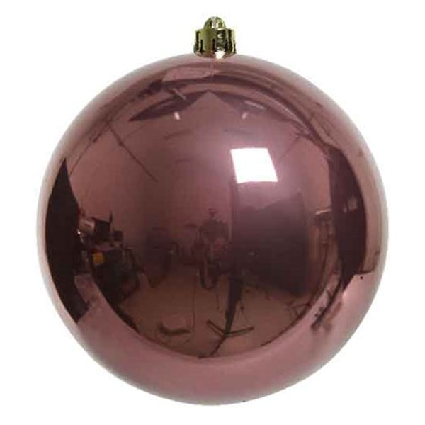 Velvet Pink Fashion Trend Shatterproof Baubles - Single 140mm