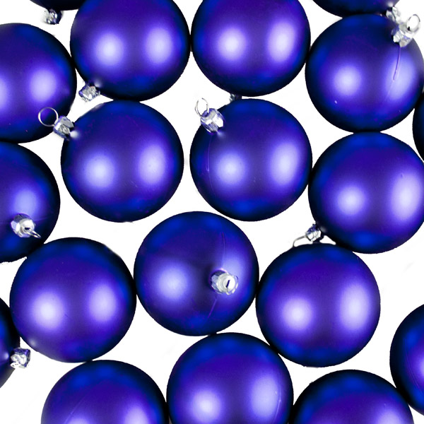 Luxury Purple Matt Shatterproof Baubles - Pack of 24 x 67mm