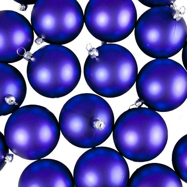 Luxury Purple Matt Shatterproof Baubles - Pack of 24 x 67mm