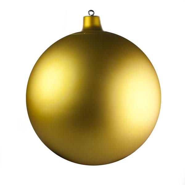 A 600 mm Gold Matt Shatterproof Bauble