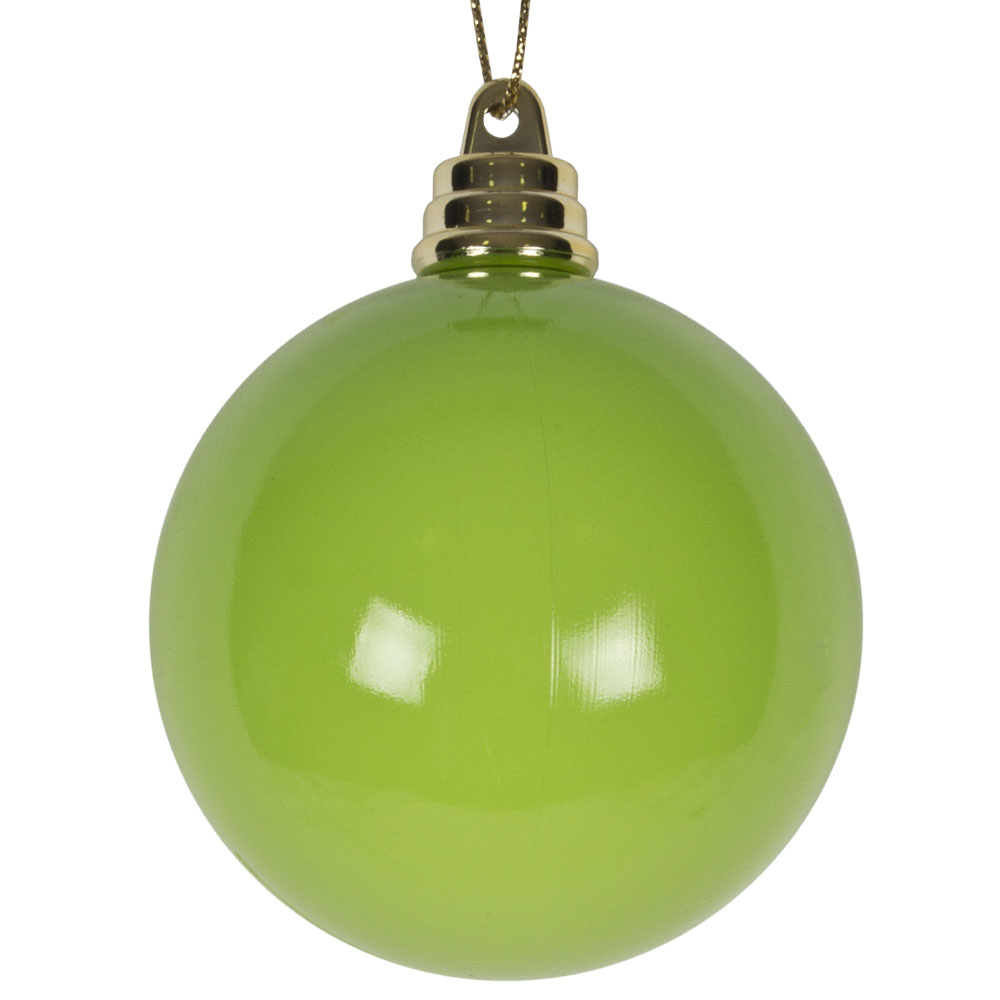 Bright Green Gloss Finish Shatterproof Bauble - 60mm