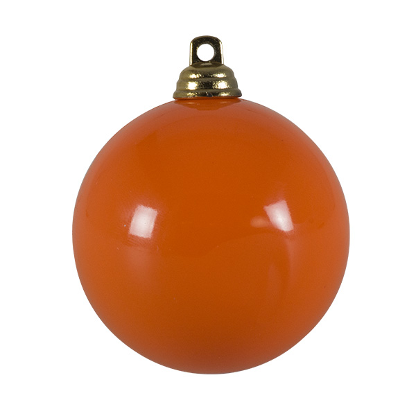 Bright Orange Gloss Finish Shatterproof Bauble - 60mm