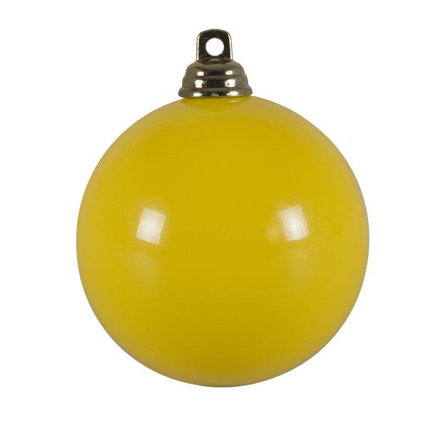 Bright Yellow Gloss Finish Shatterproof Bauble - 60mm