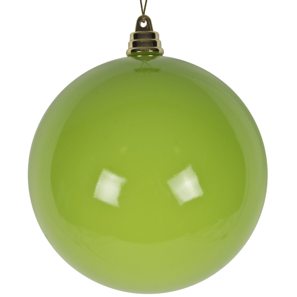 Bright Green Enamel Finish Shatterproof Bauble - 100mm
