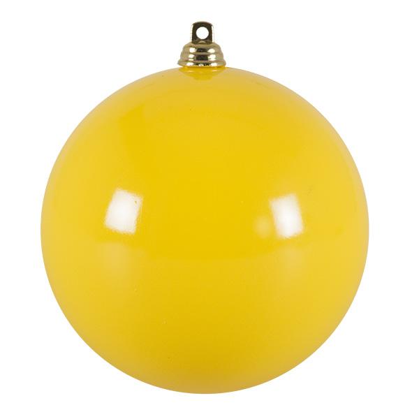 Bright Yellow Gloss Finish Shatterproof Bauble - 100mm
