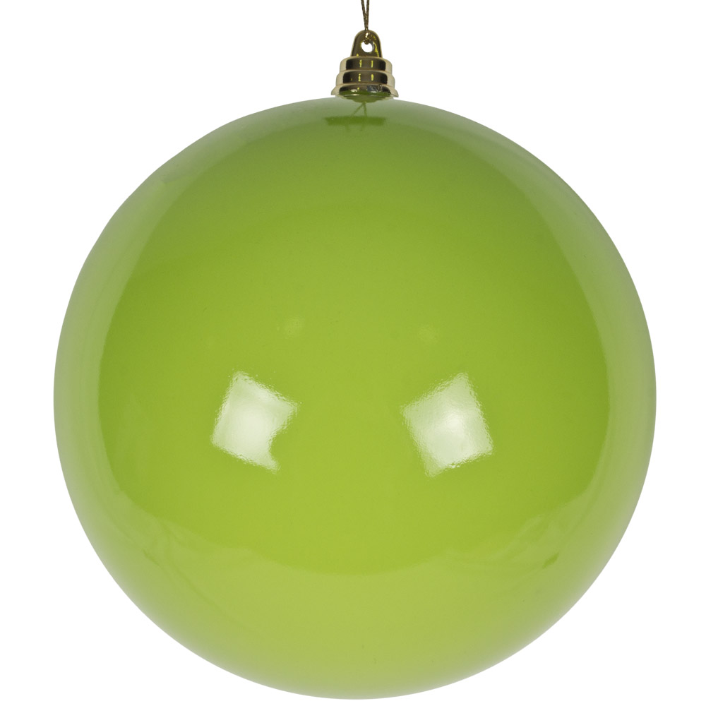 Bright Green Enamel Finish Shatterproof Bauble - 140mm