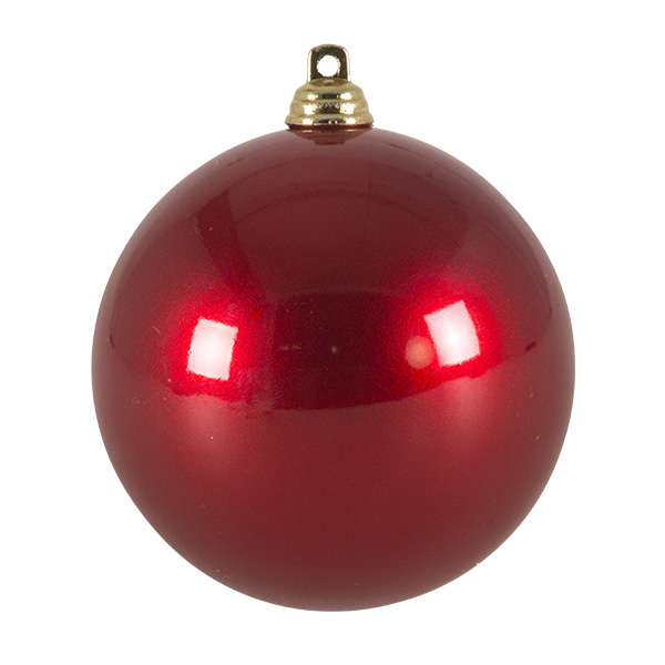 Red Metallic Finish Shatterproof Bauble - 80mm