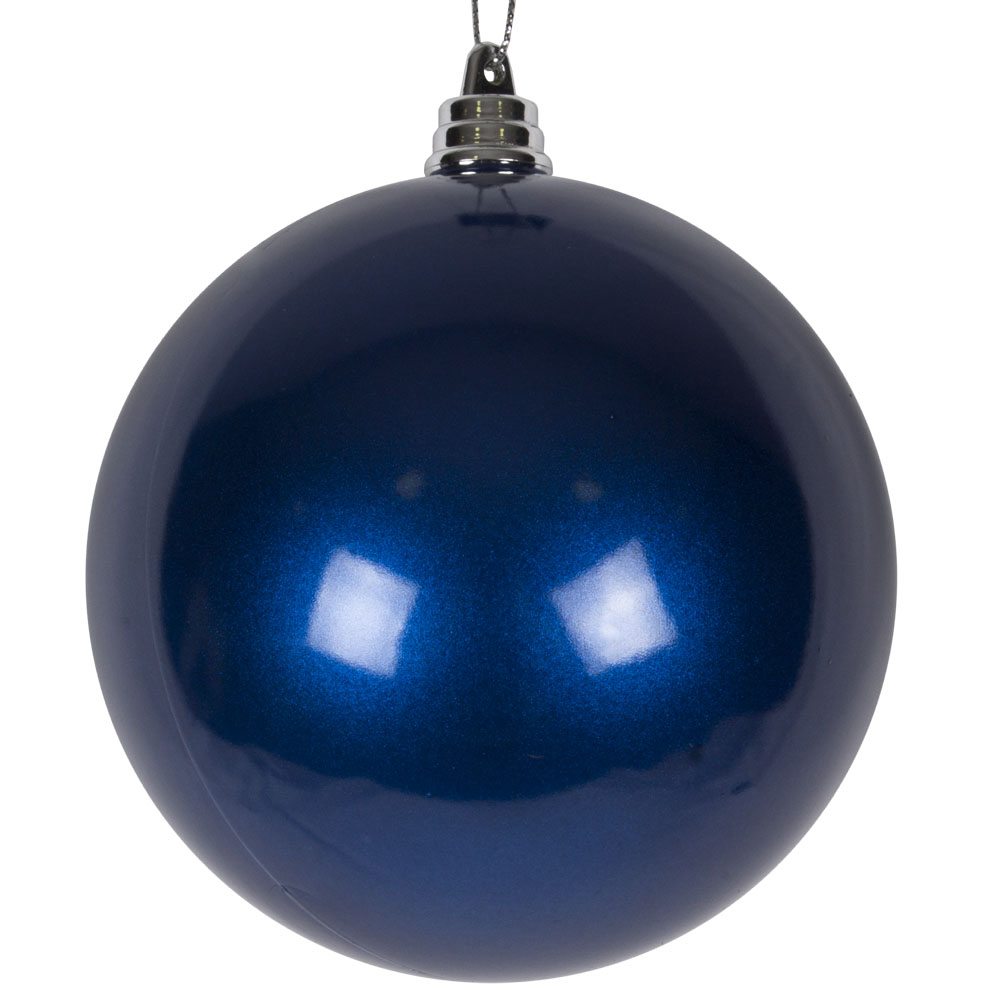 Blue Metallic Finish Shatterproof Bauble - 100mm