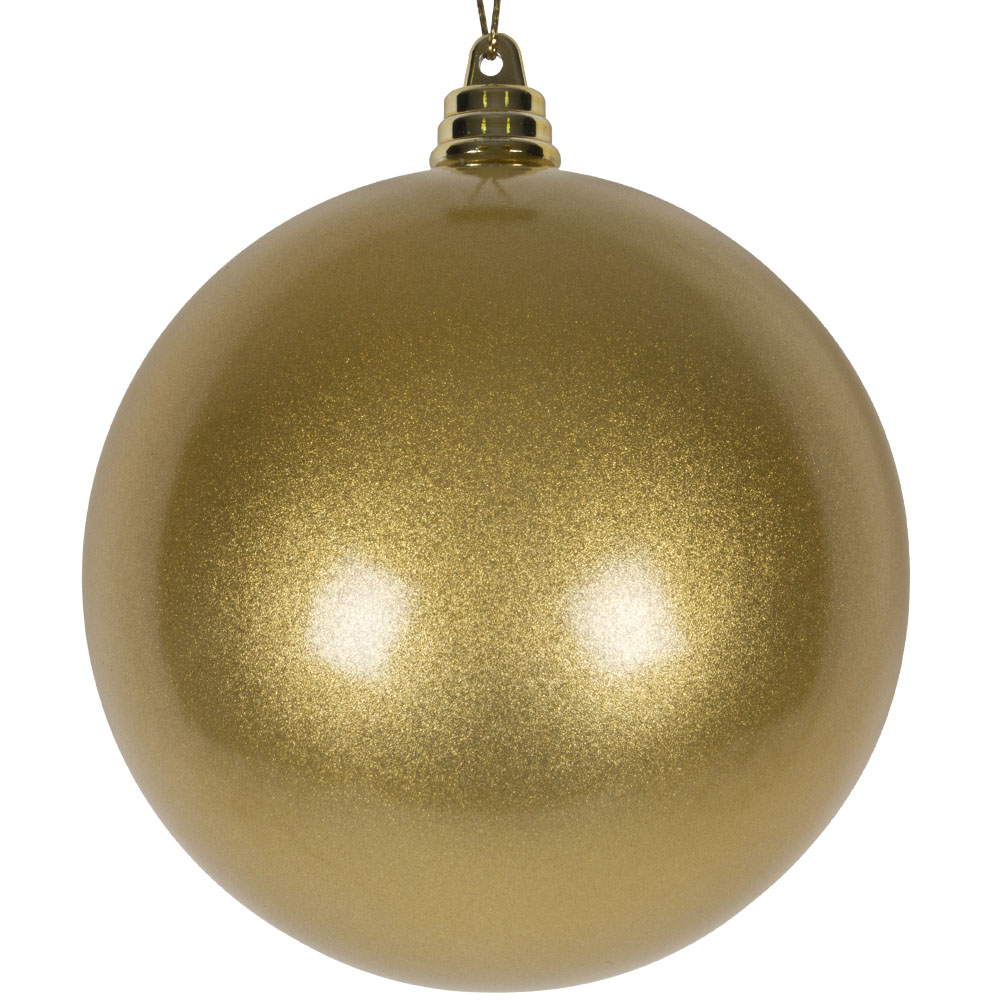 Gold Metallic Finish Shatterproof Bauble - 100mm